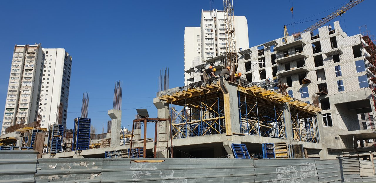 Photo report of the construction of the residential complex «Fifth Continent»