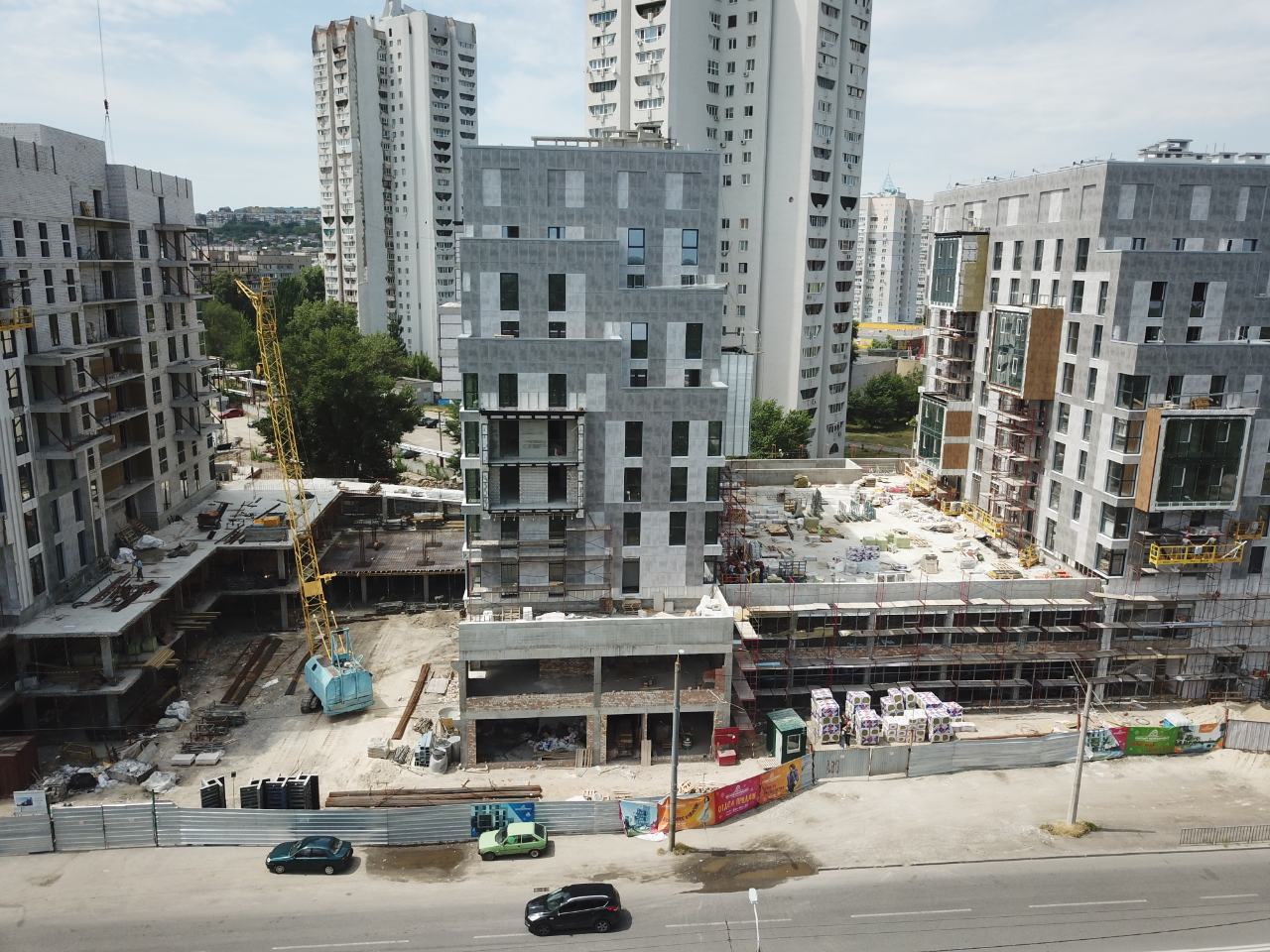 Progress of construction of the residential complex «Fifth Continent»
